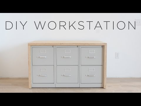 Diy Workstation How To Make A Craft Table With Storage