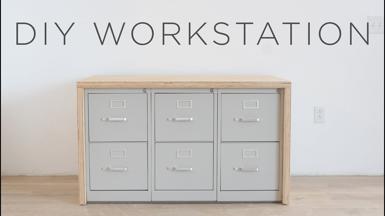 How To Make A Craft Table With Storage