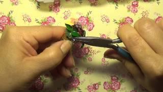 Nail Polish Flower Jewelry