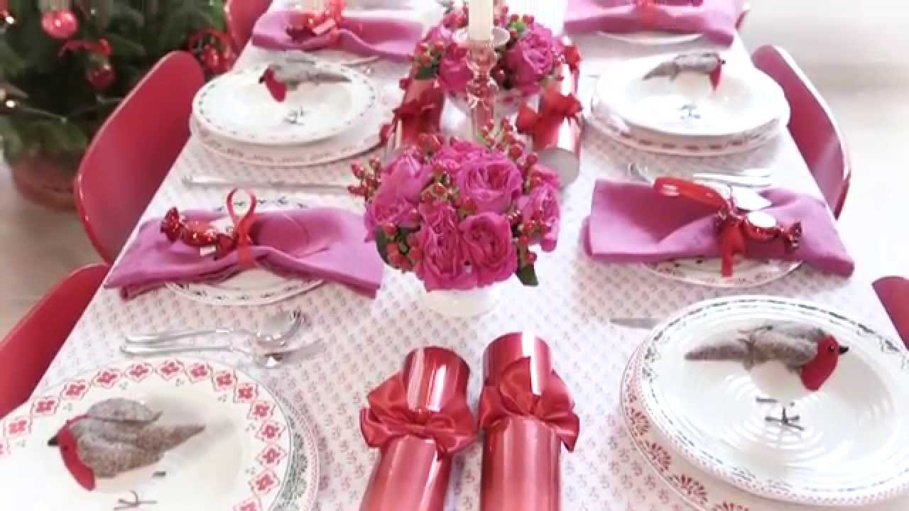 Sophie Conran\'s Christmas: a pink and red table - YouTube