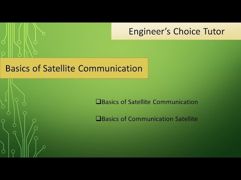 Basic Of Satellite Communication