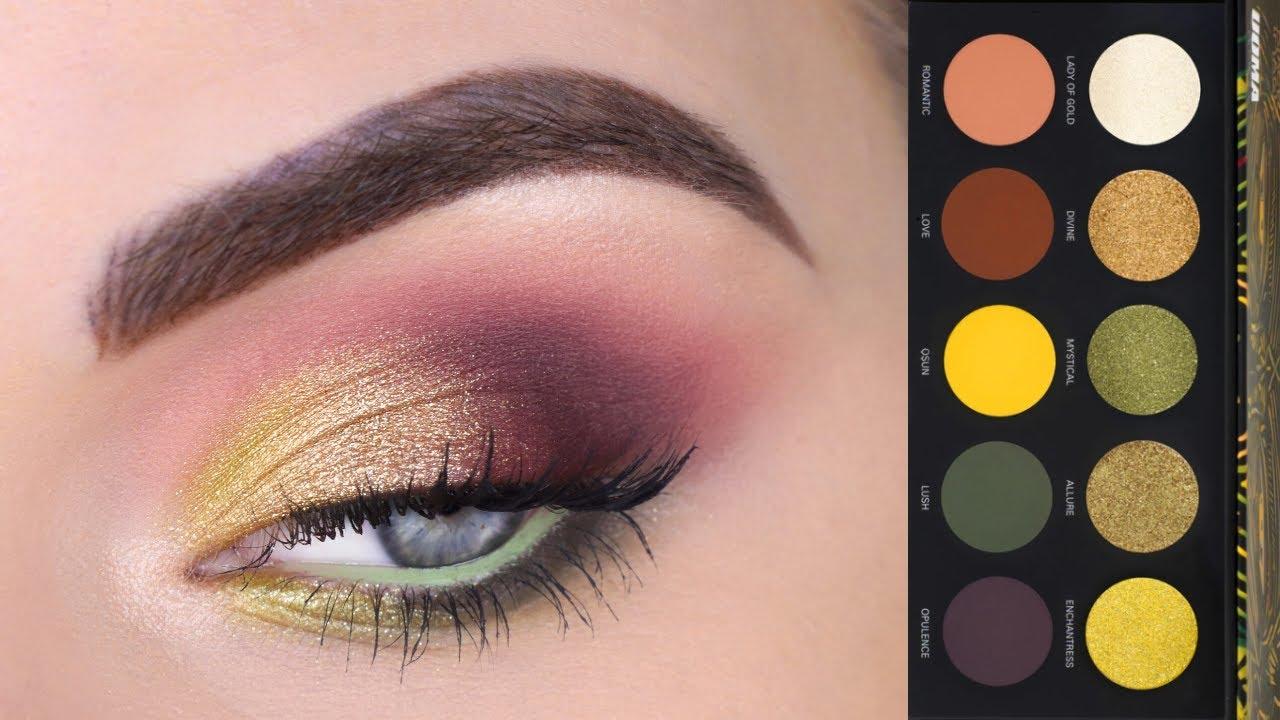 Uoma Beauty Black Magic Eyeshadow Palette Tutorial
