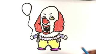 How to Draw Pennywise from Stephen King