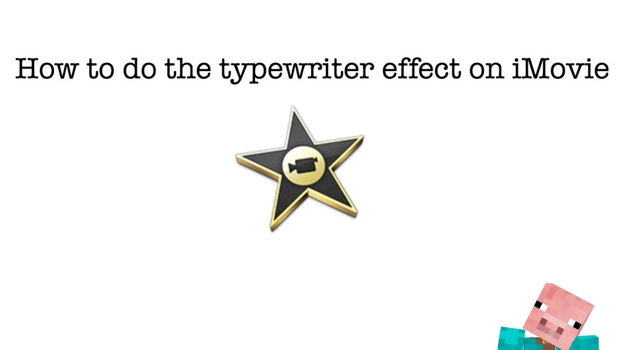 How to do the Typewriter Effect in iMovie!