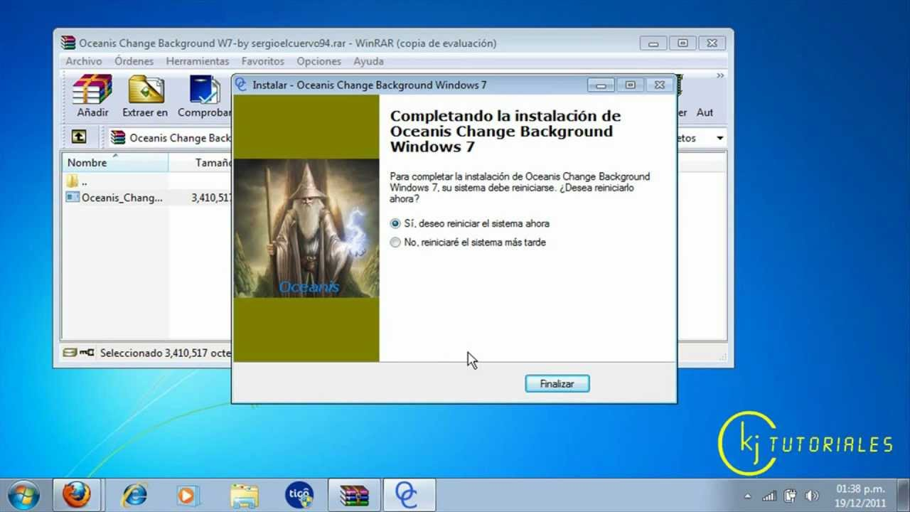 Como cambiar el fondo de pantalla de windows 7 starter youtube - Como cambiar fondo de escritorio windows 7 starter ...