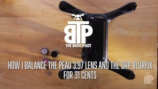 Balancing the Gopro Peau 3.97 and SRP Blurfix Air filter on Solo for 31 cents