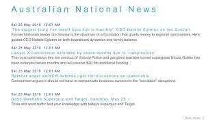 National News Headlines for 25 May 2019 - 8 AM Edition
