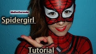Repeat youtube video ✰ Spider-Girl Maquillaje ✰ / Spider-Girl tutorial ( Spider-man inspired)