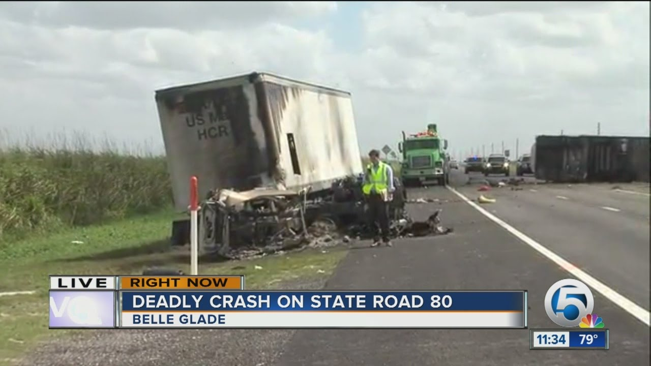 Portion of State Road 80 closed after deadly Belle Glade crash
