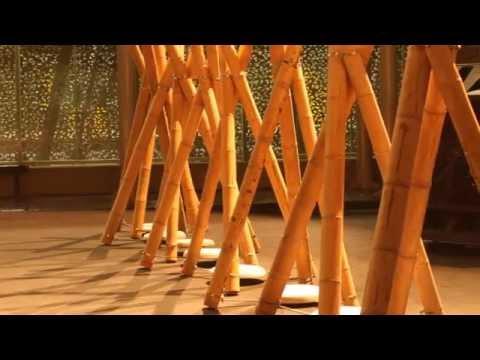 Decoraci n en bamb por palakas unwto 2015 youtube - Bambu seco para decoracion ...