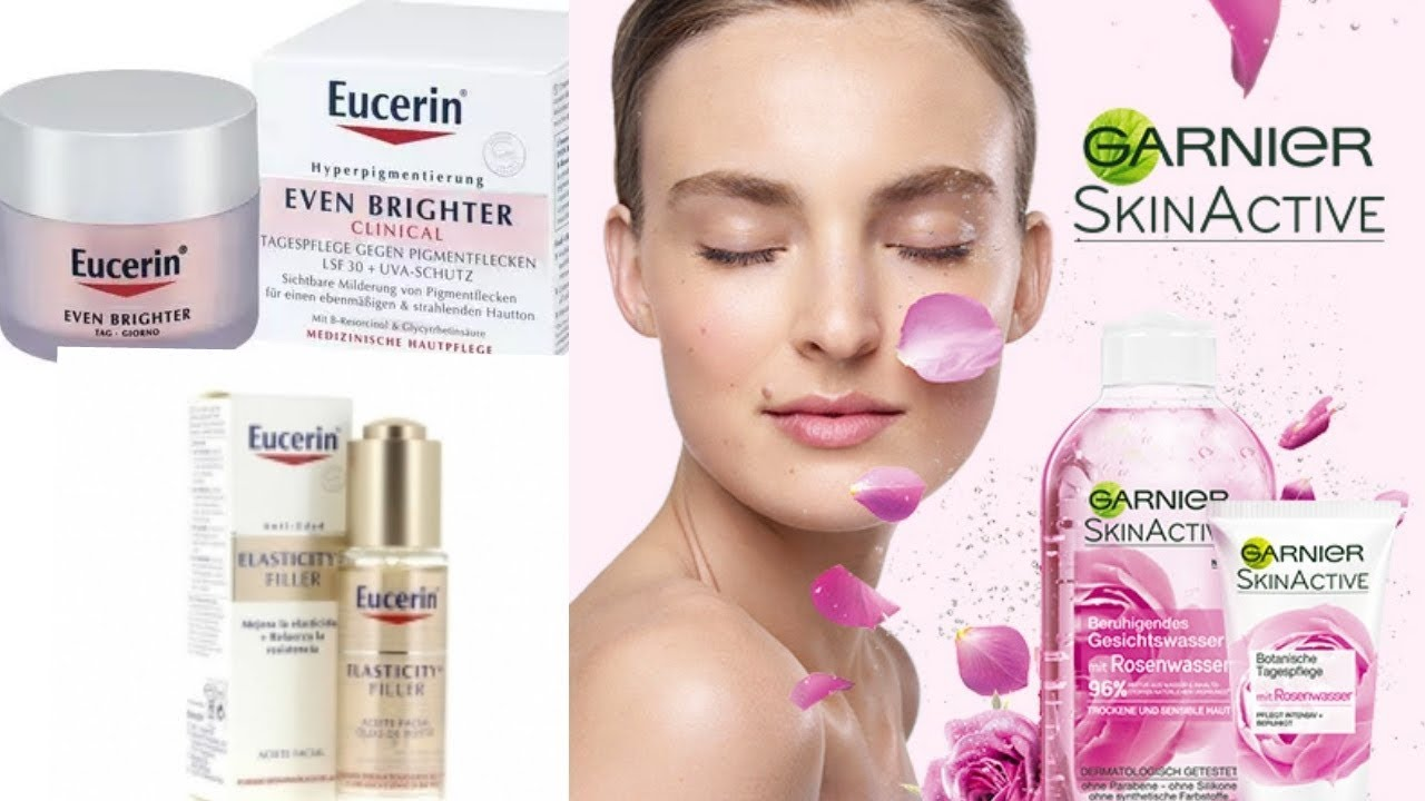GARNIER SKINACTIVE   EUCERIN (EVEN BRIGHTER) SKINCARE REVIEW AND DEMO. e7a0fe9b6f3