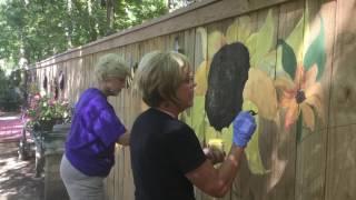 Sunflower Fence Mural!