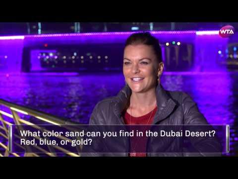 Agnieszka Radwanska 2017 Dubai Quiz