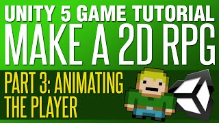 unity rpg tutorial 3   animating the player