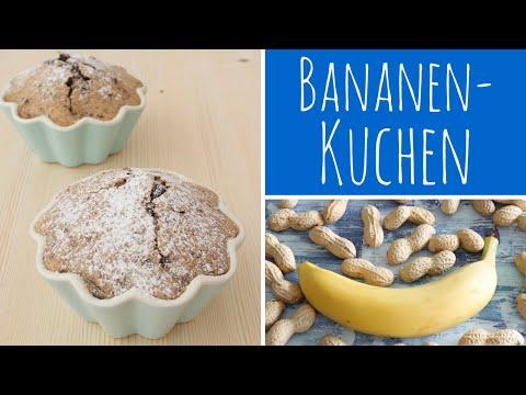 Bananenkuchen Mit Erdnussbutter Und Schokokolade - Mini Kuchen Rezept Für Zwei