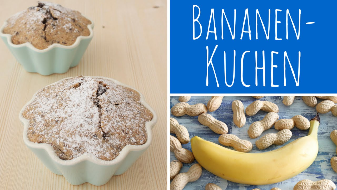 Bananenkuchen Mit Erdnussbutter Und Schokokolade Mini Kuchen
