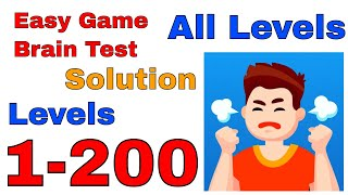 Easy Game Brain Test All Levels from 1-200 Complete Game Solution Walkthrough