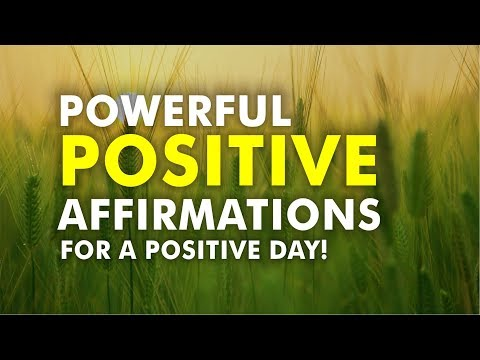 5 Minute Daily Positive Affirmation for A Positive Day - Law of Attraction Motivation Meditation