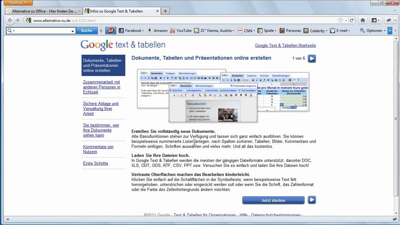 Alternative Programme und Webservices finden, zum Beispiel