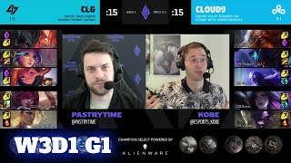 CLG vs Cloud 9 | Week 3 Day 1 S11 LCS Spring 2021 | CLG vs C9 W3D1