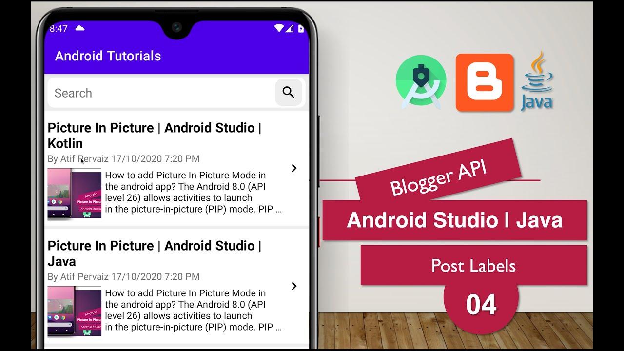 Blogger API | 04 Post Labels | Android Studio | Java