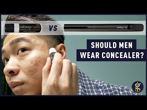 Menaji Camo Concealer vs Stryx Concealer Tool Review (Should Men Wear Makeup?)