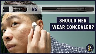 Menaji Camo Concealer vs Stryx Concealer Tool Review (Should Men Wear Makeup?)