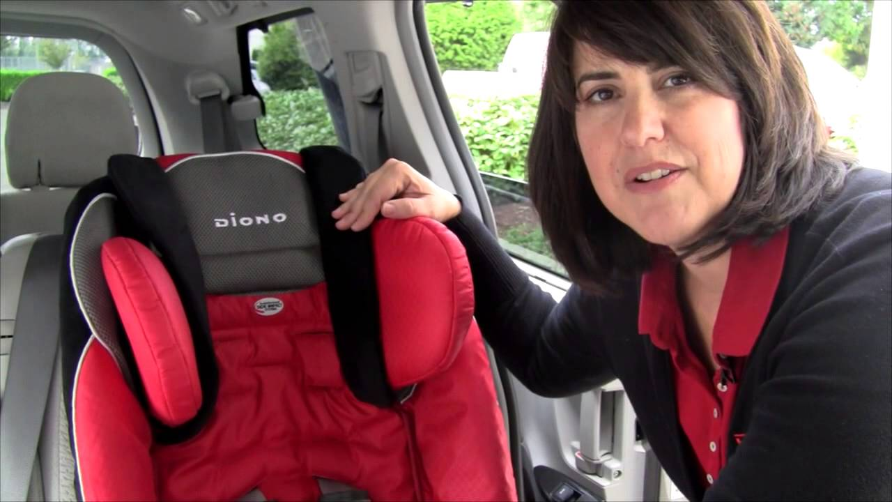 Raising the Head Support on Diono Radian®RXT and Rainier Car Seats ...