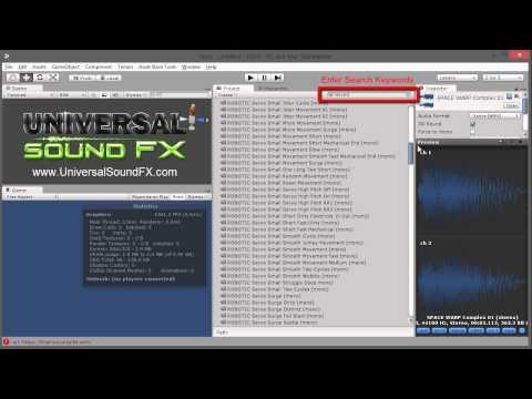 Universal Sound FX for Unity - Keywords