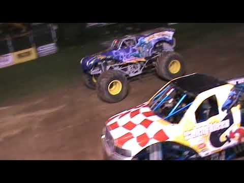All American Monster Truck Tour - Black Stallion vs War Wizard (Racing)