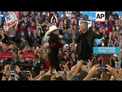 Download Lady Gaga campaigns for Clinton in North Carolina