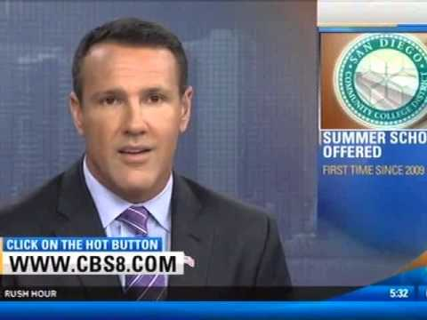 CBS News 8 at 5pm - San Diego Community College District Offering Summer Classes