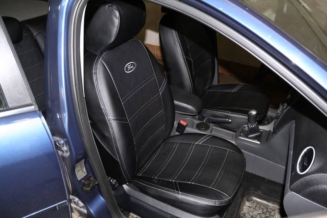 Авточехлы для Ford Focus II, чехлы серии Leather Style от MW .