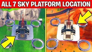 Visit all Sky Platforms – ALL 7 LOCATIONS WEEK 1 CHALLENGES FORTNITE SEASON 9 thumbnail