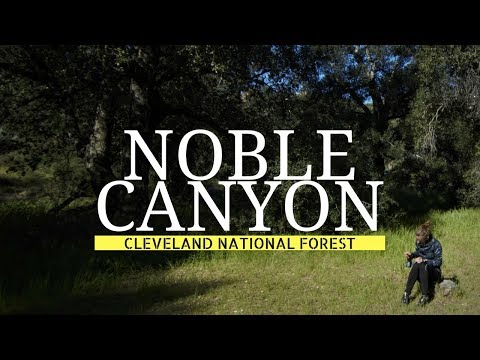 BACKPACKING CLEVELAND NATIONAL FOREST│NOBLE CANYON│nixons