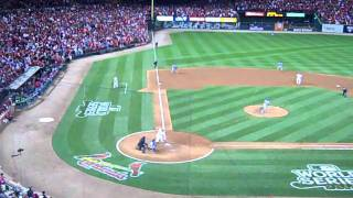 World Series Game 6 2011 David Freese Triple Right Field