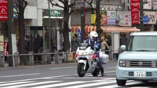 バイク捌き抜群で、とっても親切な白バイ。Very nice police motorcycle member. thumbnail