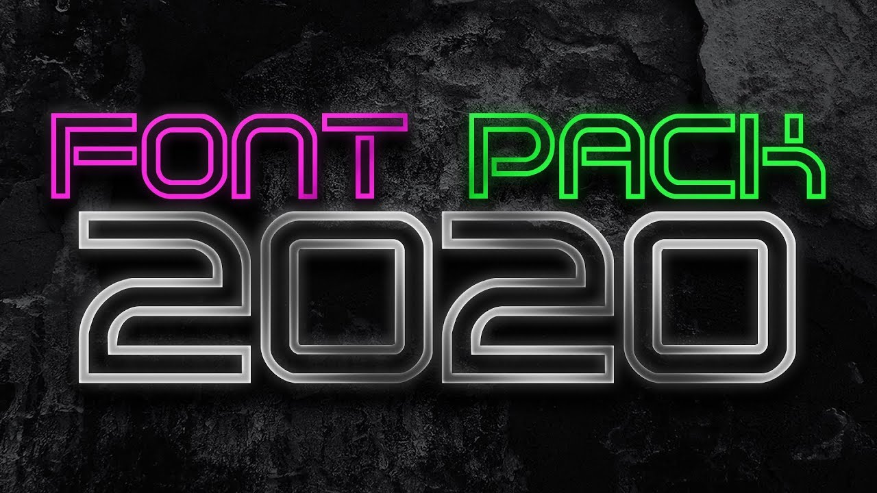 Download FONT PACK 2020 | +2000 FREE FONTS | FREE FONT PACK FOR ...