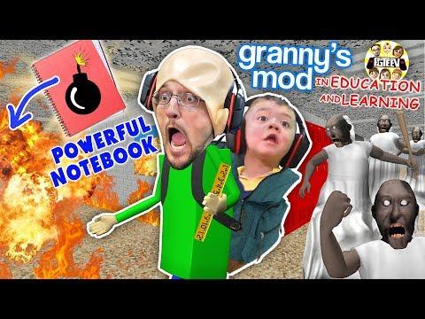 BALDI'S POWERFUL NOTEBOOK!  Granny Takes Over The School (FGTEEV Garry's Mod w/ Shawn) Gameplay/Skit