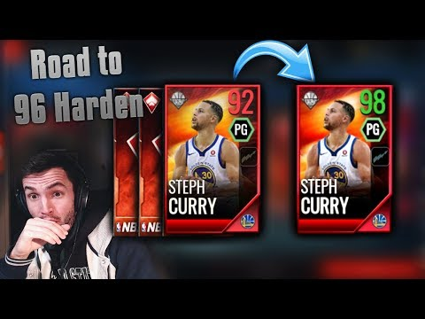 MAXING OUT MASTER STEPH CURRY AND ROAD TO 96 HARDEN IN NBA LIVE MOBILE!!