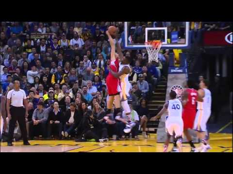 Festus Ezeli Block on Blake Griffin, Los Angeles Clippers @ Golden State Warriors, 4/11/2015