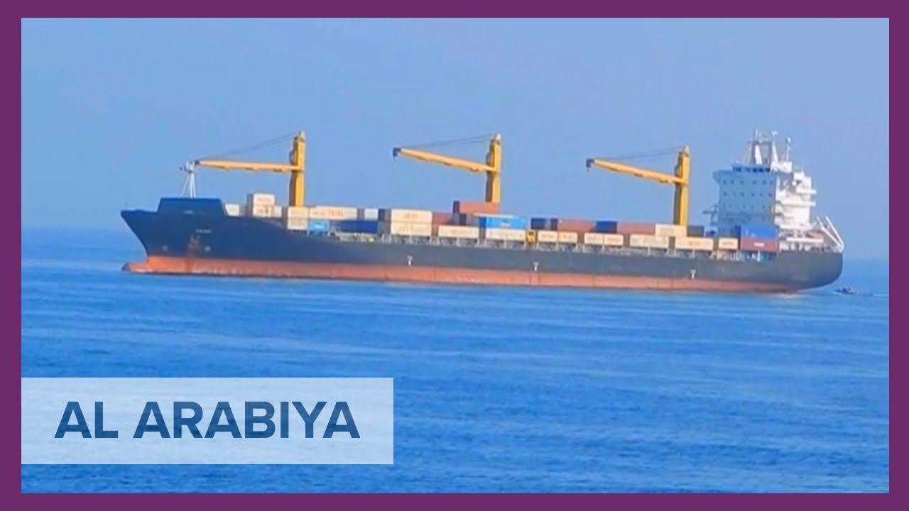Al Arabiya cameras film suspicious Iranian ship in Red Sea
