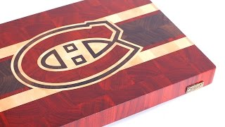 "Making A ""montreal Canadiens"" End Grain Cutting Board"