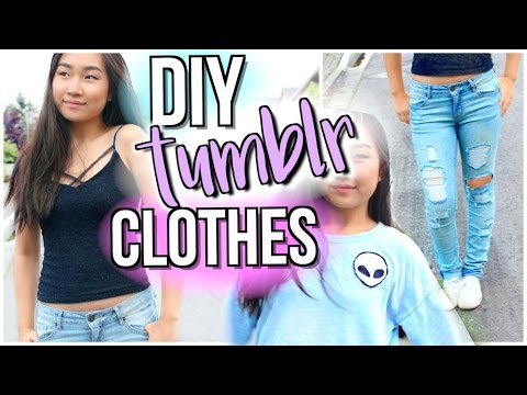 DIY Tumblr Clothes | Upcycle Old Clothing WITHOUT Transfer Paper | JENerationDIY