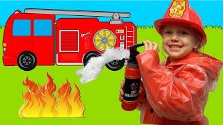 Firefighters Canción Infantil   Canciones Infantiles con Alex y Nastya