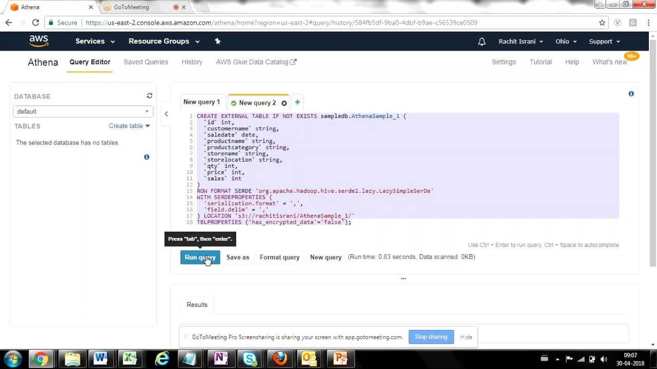 How to query data from raw files using Amazon Athena ?