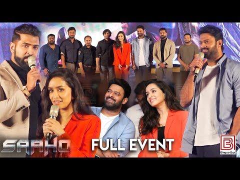 Saaho Pressmeet Chennai | Prabhas | Shraddha Kapoor | Arun Vijay | Sujeeth | Ghibran | UV Creations
