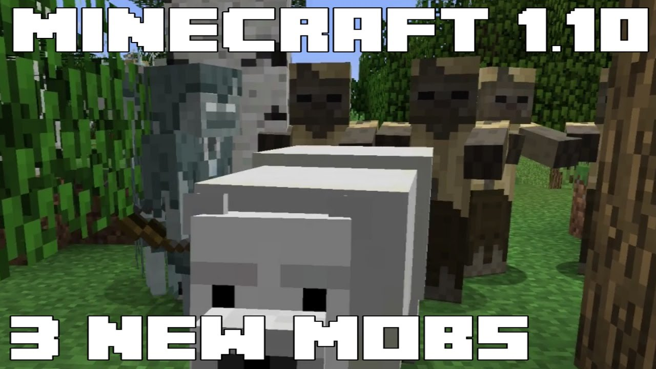Minecraft 1 10 - 3 NEW Mobs: Polar Bear, Husk and Stray