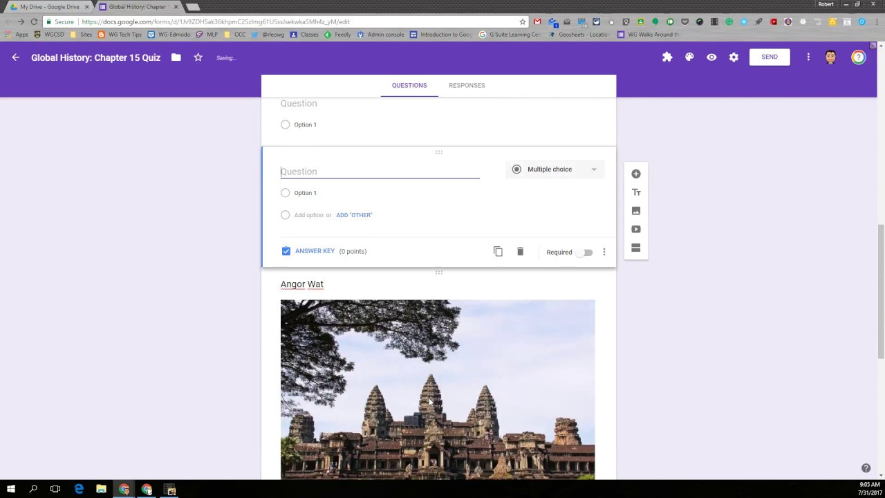 12 Google Forms Quiz Create Quiz and Answer Key - YouTube
