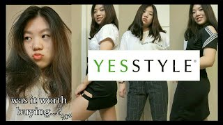 TRYING ON CLOTHES FROM YESSTYLE! [HAUL & REVIEW]